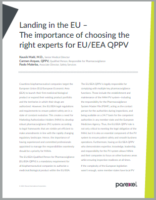 Selecting the right EU/EEA QPPV experts